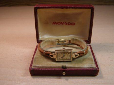 Art'Deco Movado női aranyóra felújítása