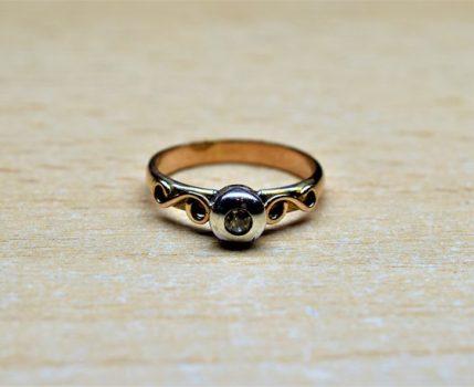 Antik briliáns gyűrű bemutatása és szakszerű értékbecslése