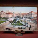 A Müncheni Karlsplatz nyugalmát ábrázoló képeslap, mint sportrelikvia (Dr. Katona István Szájsebész tulajdona)