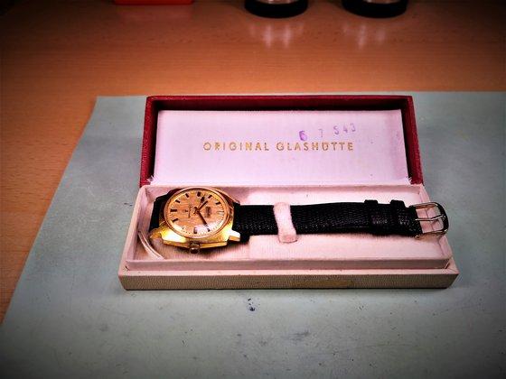 Gyári állapotban megmaradt Glashütte Chronometer