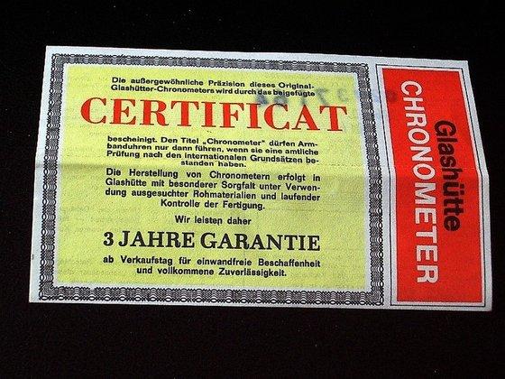Három év garanciát biztosító certifikát