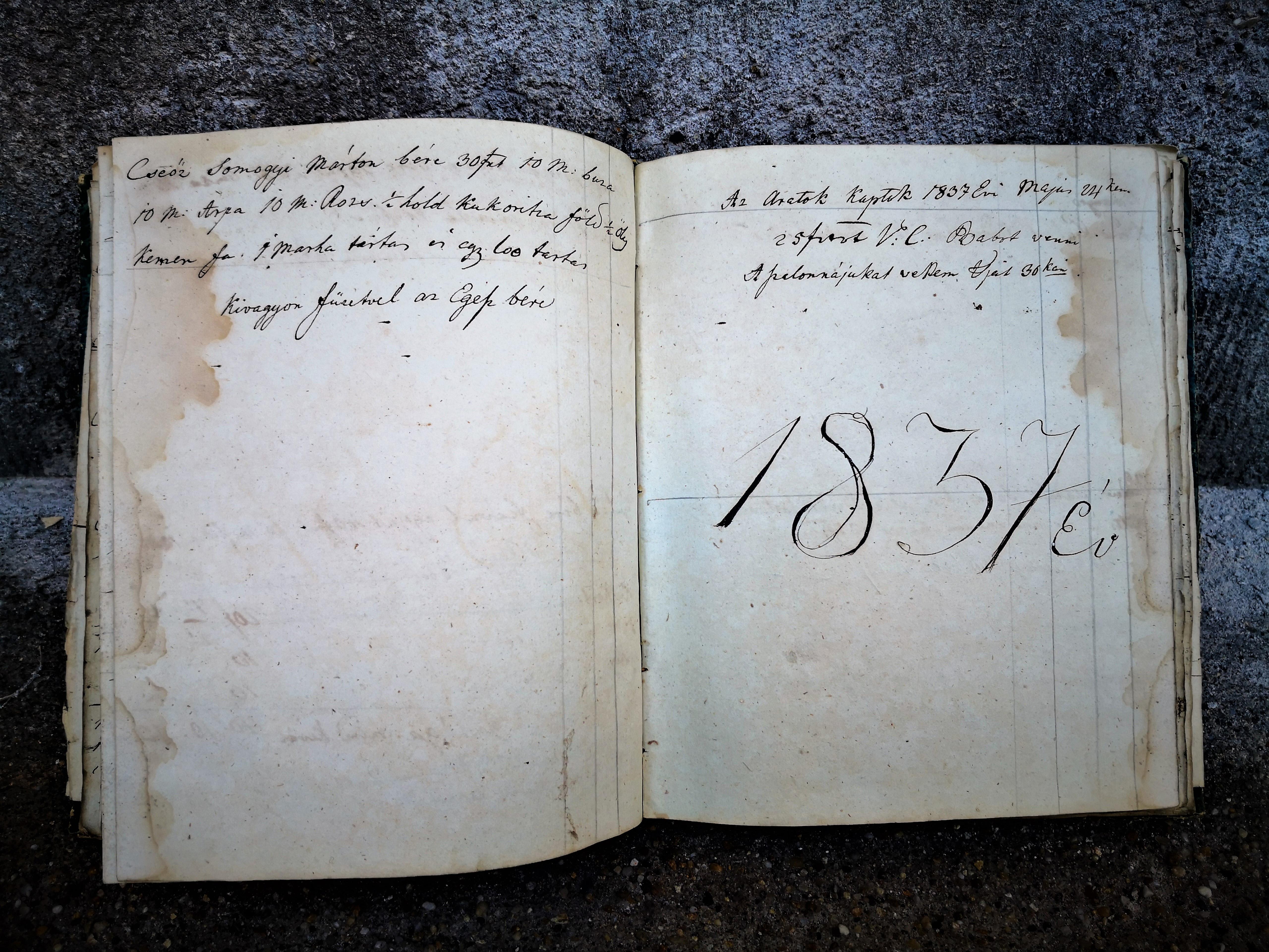 Bejegyzés utolsó dátuma 1837